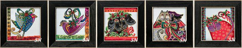Christmas Pets by Laurel Burch for Mill Hill! - click for more