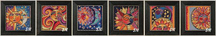 Laurel Burch's Sun and Moons in Cross Stitch for Mill Hill! - click for more