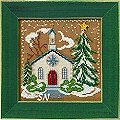 Mill Hill 2006 Buttons & Beads Christmas Village MH14-6302 Country Church Kit -- click for more