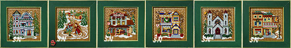 The Christmas Village in Buttons & Beads from Mill Hill - click for more