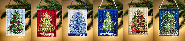 Festive Trees Ornament Kits from Mill Hill - click for more