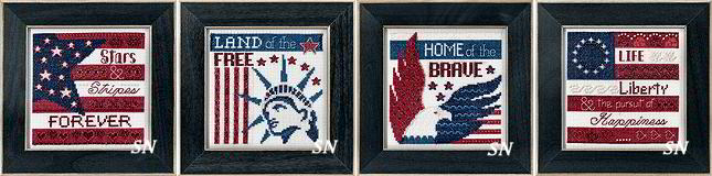 Mill Hill 2019 Patriotic Quartet Series Button & Bead Kits - click for more