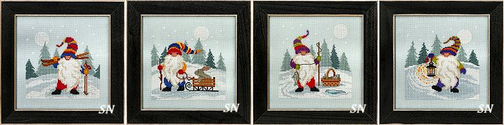 The Gnome Quartet Kits from Mill Hill - click for more