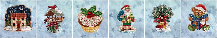 The 2020 Winter Holiday Ornament Kits from Mill Hill - click for more