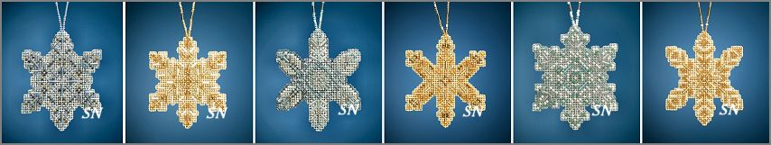 The 2020 Mill Hill Beaded Holiday Snowflakes - click for more