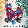 H105 Snowcapped Red Bird -- click for a larger view