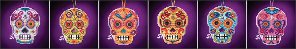 Calavera Sugar Skulls from Mill Hill - click for more