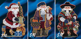 Mill Hill Celebration Santas - Mini Kits for 2014 - click for more