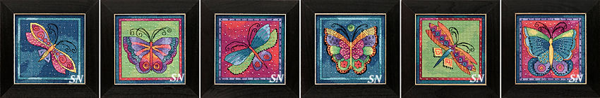 Laurel Burch's Flying Colors in Cross Stitch for Mill Hill! - click for more