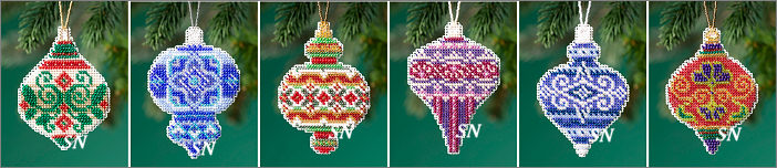 Beaded Holiday Ornaments 2019 Collection from Mill Hill - click for more