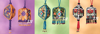 Beaded Ornaments from Mill Hill - click for more