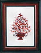 Nora Corbett's 2009 Annual Christmas Tree from Mirabilia Designs - click to see more