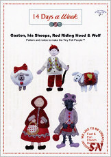 14 Days a Week Gaston, his Sheep, Red Riding Hood & Wolf - click for more