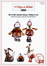14 Days a Week Mr & Mrs Claus, Tobby & Co Pattern - click for more