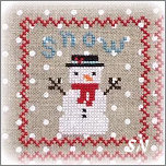 Snowy 9 Patch from Annie Beez Folk Art - click to see more