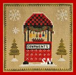 Christkindlmarkt Part 3 Ornament Stand by Pickle Barrel Designs - click to see more