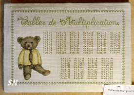 Le Lin d'Isabelle Teddy Bear Multiplication Table
