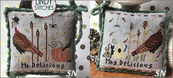 Mr & Mrs Delicious from Lindy Stitches - click to see more