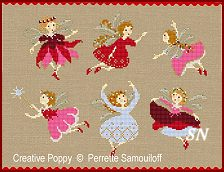 Tiny Christmas Fairies from Perrette Samouiloff