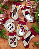 Christmas Woolens Felt Ornament Kit from Rachels of Greenfield - click to see more