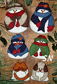 Snow Folk Felt Ornament Kit from Rachels of Greenfield - click to see more