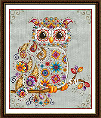 Paisley Owl from Peacock and Fig - click to see more