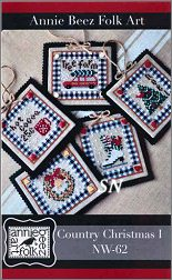 Country Christmas Ornaments 1 from Annie Beez Folk Art - click to see more