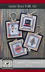 Country Christmas Ornaments 2 from Annie Beez Folk Art - click to see more