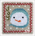 Snowy 9 Patch #7 from Annie Beez Folk Art - click to see more