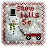Snowy 9 Patch part 4 from Annie Beez Folk Art - click to see more