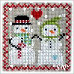 Snowy 9 Patch #5 from Annie Beez Folk Art - click to see more