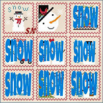 Snowy 9 Patch 2 from Annie Beez Folk Art - click to see more