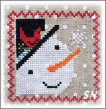 Snowy 9 Patch part 2 from Annie Beez Folk Art - click to see more