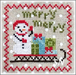 Snowy 9 Patch #3 from Annie Beez Folk Art - click to see more