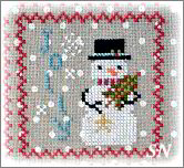 Snowy 9 Patch #6 from Annie Beez Folk Art - click to see more
