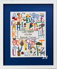 Bright Alphabet Birth Announcement from Cherry Lane - click for more