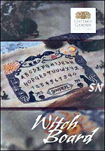 Cottage Garden Samplings Witch Board CHART - click for more