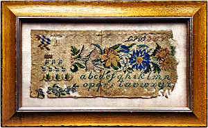 Antique Sampler Fragment 1834 from Cross Stitch Antiques - click to see more