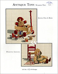 CW Designs Antique Toys Set Two