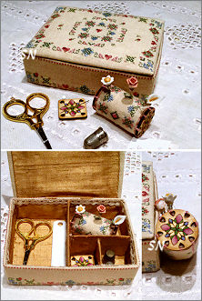 Elegance in Bloom Sewing Box from MTV Designs - click for more
