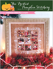 Christmas Celebration Sampler from Frosted Pumpkin Stitchery - click to see more