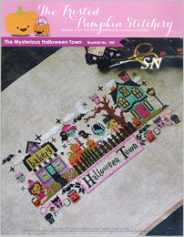 Mysterious Halloween Town from Frosted Pumpkin Stitchery - click to see more