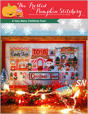 A Very Merry Christmas Town from Frosted Pumpkin Stitchery - click to see more