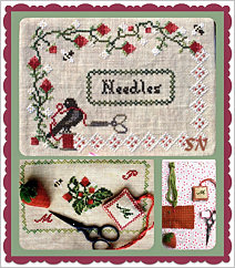 Margarette's Strawberry Needlebook from Lindsay Lane Designs - click to see more