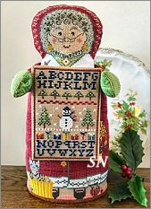 Mrs. Sampler Santa from The Needles Notion - click for more