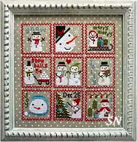 Snowy 9 Patch combo from Annie Beez Folk Art - click to see more