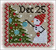 Snowy 9 Patch #8 from Annie Beez Folk Art - click to see more