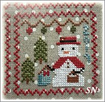 Snowy 9 Patch #9 from Annie Beez Folk Art - click to see more