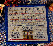 Where Liberty Dwells from Threadwork Primitives - click to see more