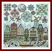 Quakers in Holland from Tempting Tangles - click to see more